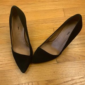 Madewell Mira Pumps Size 6 Black Suede